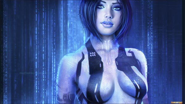 Кортана из игры Halo
