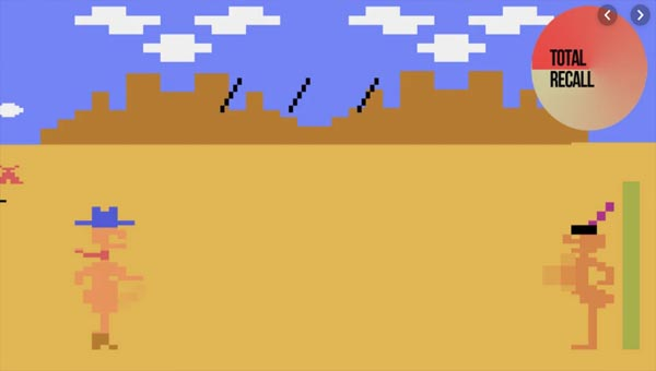 игра пикселизации Custer's Revenge