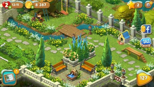 Прохождение уровней в Gardenscapes