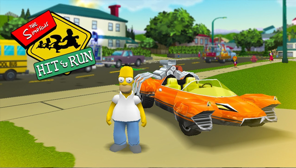 игра THE SIMPSONS HIT & RUN