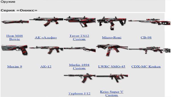 Warface Оникс оружие
