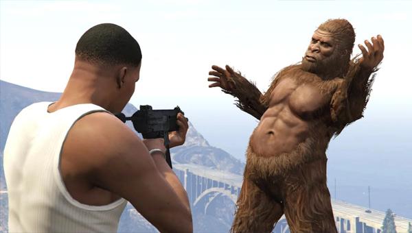 Снежный человек в 5-й части Grand Theft Auto