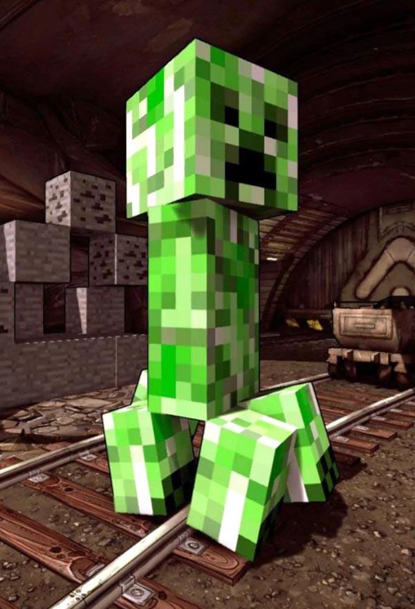 Крипер из Minecraft является ошибкой