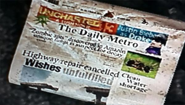 Газета из The Last of Us
