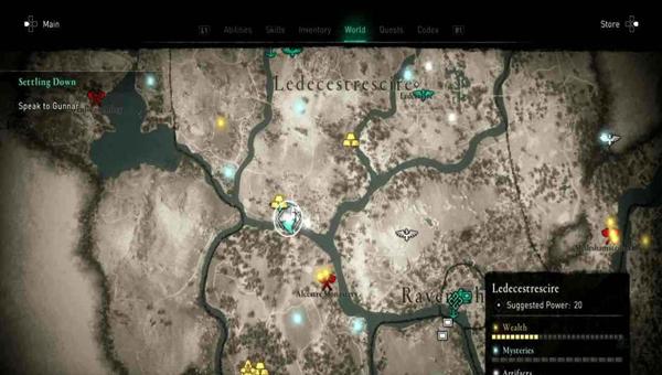 карте сокровищ Leicestershire